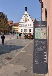 Fußgängerleitsystem Rothenburg o.d. Tauber