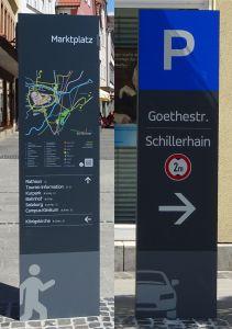 Fußgängerleitsystem und Parkleitsystem Bad Neustadt a.d.S.